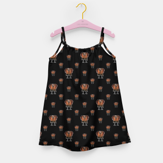 Thumbnail image of Funny Ugly Bird Drawing Print Pattern Girl's dress, Live Heroes