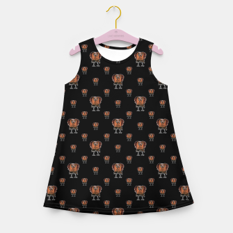 Thumbnail image of Funny Ugly Bird Drawing Print Pattern Girl's summer dress, Live Heroes