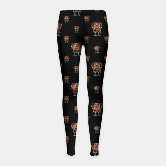 Thumbnail image of Funny Ugly Bird Drawing Print Pattern Girl's leggings, Live Heroes